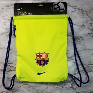 Nike FC Barcelona Soccer Drawstring Bag Gym Sack